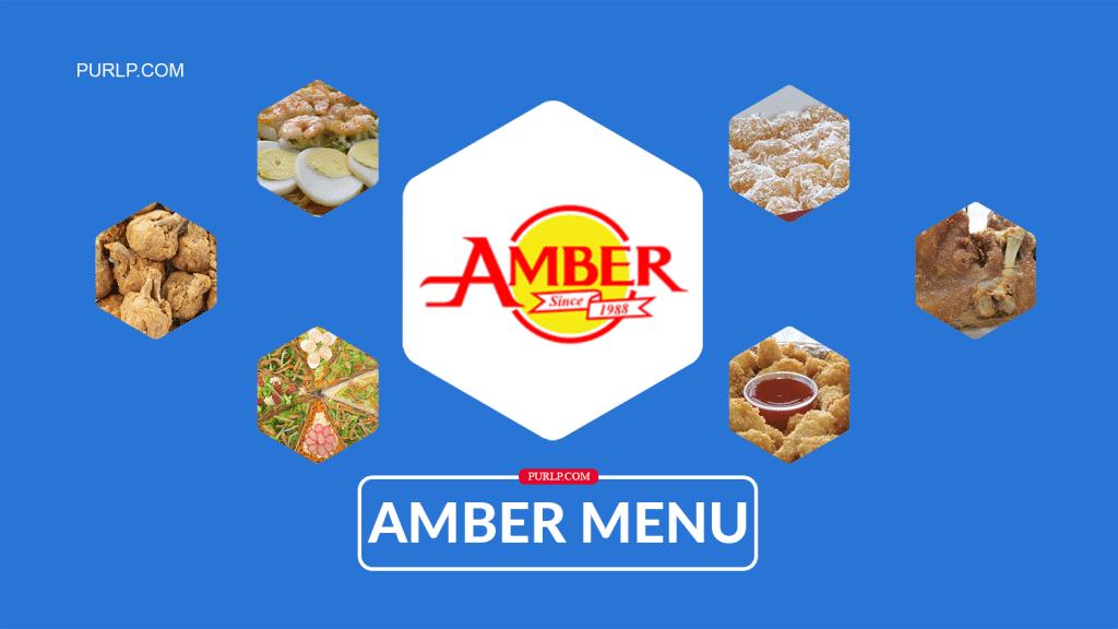 Amber Golden Plate Restaurant Menu