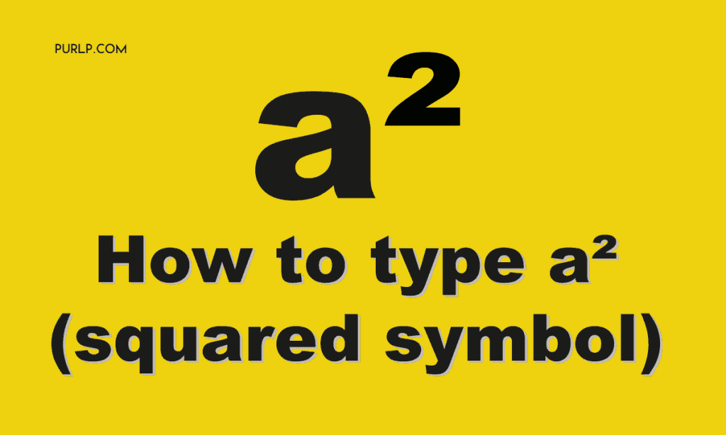 how to type ² squared symbol